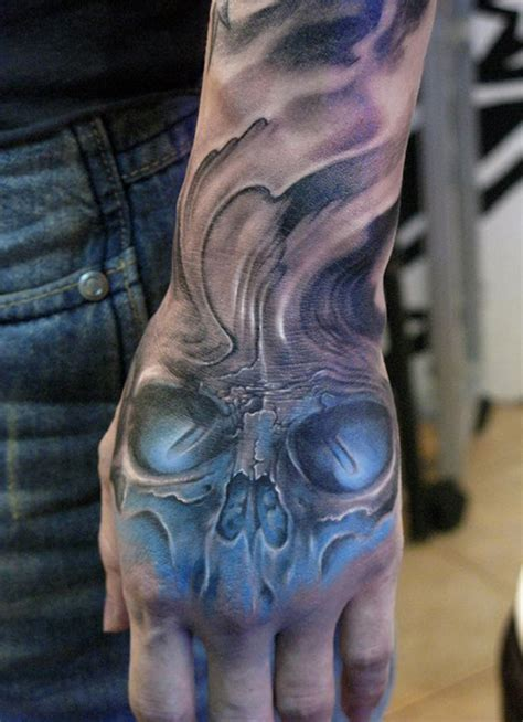 hand tattoo no sleeve 100 awesome skull tattoo designs tattoo designs tattoo