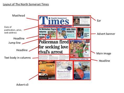 newspaper layout strapline local newspaper layout conventions