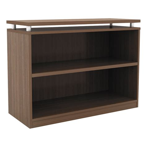 Low Walnut Bookcase Modern Shelving Skye Low Walnut Bookcase Eurway