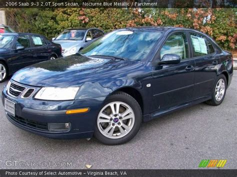 nocturne blue metallic 2006 saab 9 3 2 0t sport sedan