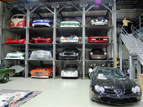 beautiful garage designs jerry seinfeld car collection gallery