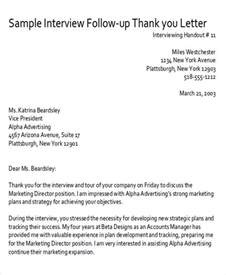 Thank You Letter For Follow Up Sle Thank You Follow Up Letters 5 Exles In Word Pdf