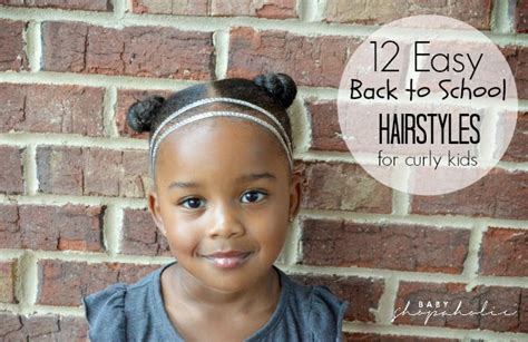 Easy Hairstyles For Curly Hair Back To School by 12 Easy Back To School Hairstyles For Curly