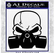 Skull Gas Mask Decal Sticker &187 A1 Decals