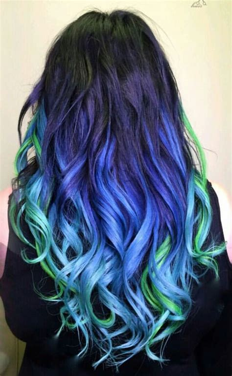 hair green blue blue and green hair tips www imgkid com the image kid