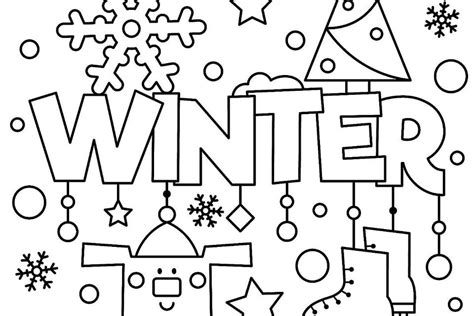 winter themed printable coloring pages winter puzzle coloring pages printable winter themed