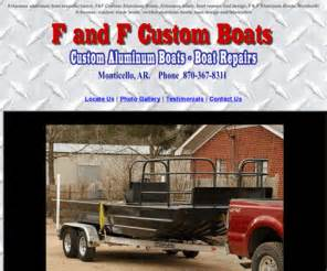 aluminum boats made in arkansas fandfboats arkansas aluminum boats f and f custom