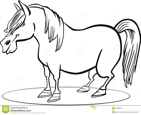 cartoon horse coloring page cartoon pony horse coloring page royalty free stock images