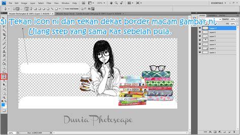 tutorial blogger header dunia photoscape tutorial buat header bertangkai guna