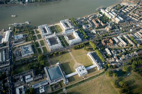 queen s house greenwich aerial view of national maritime museum and queen s house greenwich national