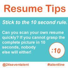 Resume 6 Second Rule by 1000 Images About Resumes Cover Letters Business Cards