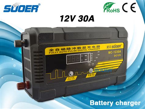 Suoer Fast Charger Dc 1230a 30a Suoer 30a 12v Car Battery Charger Solar Battery Charger Mc