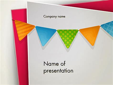 Paper Birthday Banner Powerpoint Template Backgrounds 13958 Poweredtemplate Com Powerpoint Banner Template