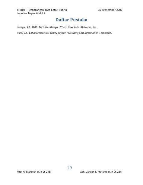 kegunaan layout peta laporan modul 2 k98