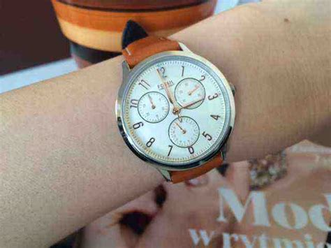 Jam Tangan The Leather Brown Black jual jam tangan wanita fossil ch3014 abilene chronograph brown leather baru jam