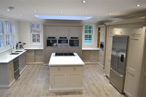 bespoke painted kitchen with island the used kitchen company