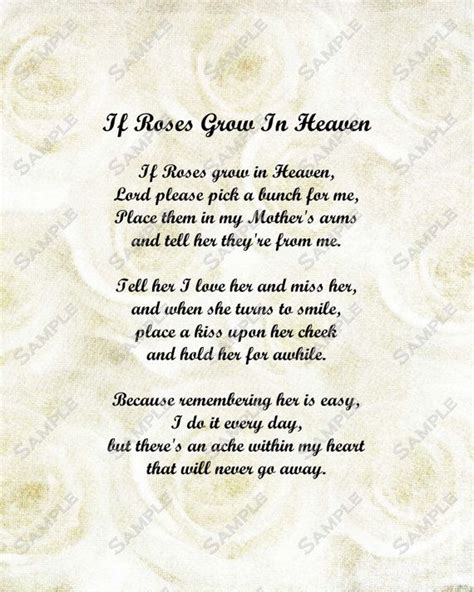 memorial quotes on pinterest remembrance quotes tupac memorial poem for mother roses in heaven by
