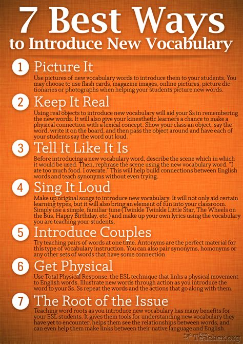 7 Ways To Be More Popular by 7 Best Ways To Introduce New Vocabulary Poster