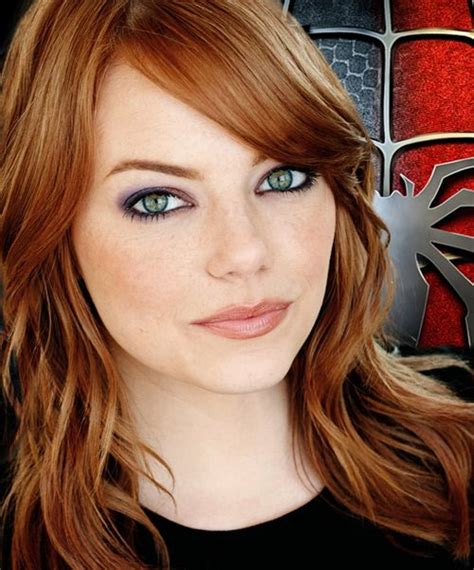 hair pictures women movie stars who loved emma stone in the amazing spiderman i liked her