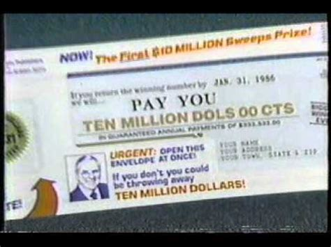 publishers clearing house sweepstakes 1984 commercial doovi - Ed Mcmahon Sweepstakes