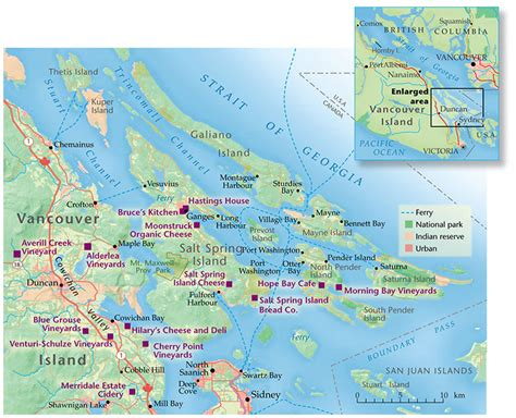 map of canada with islands gulf islands sailor s delight canadian geographic