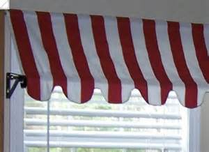 Valance Tutorial Country French Cafe Awning Window Valance In Red By