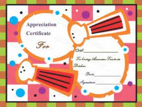 chef certificate template awesome taste certificate of appreciation template