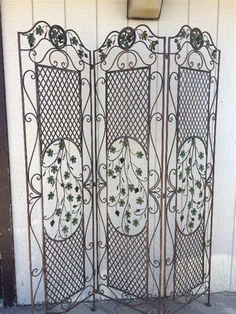 wrought iron room divider wrought iron room divider letters signs household and more k bid