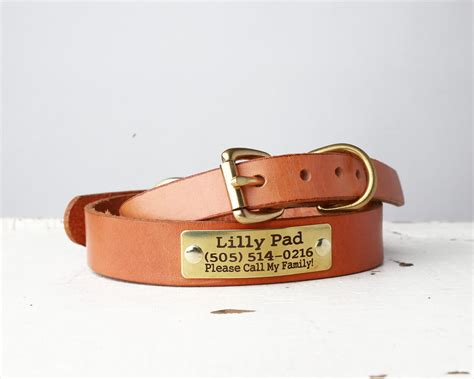 personalized leather collar belt buckle style