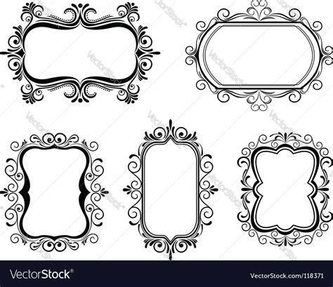 frame design agency vintage frames royalty free vector image vectorstock