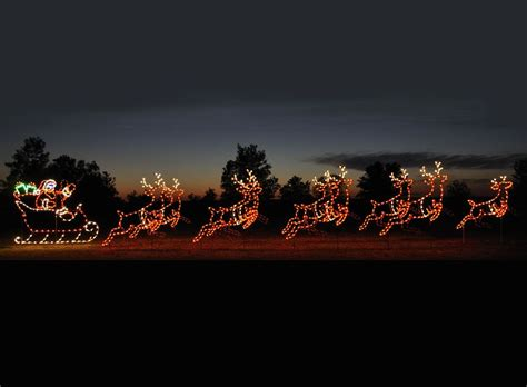 large led santa sleigh reindeer reindeer outdoor