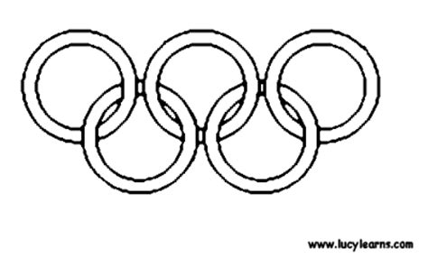 Olympic Coloring Pages Vancouver 2010 Olympic Rings Coloring Page