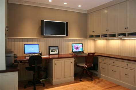 Home Office Two Desks 2 Person Desk Without A Peninsula Home Office Pinterest 2 Person Desk Desks And Home Office
