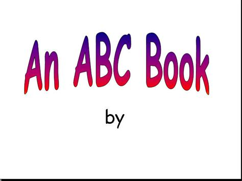 alphabet book template powerpoint kidpix