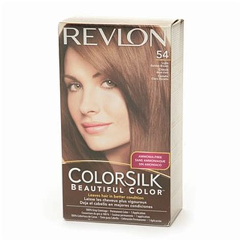 Revlon Colorsilk 54 Lgold Brown revlon colorsilk 54 light golden brown haircolor wiki