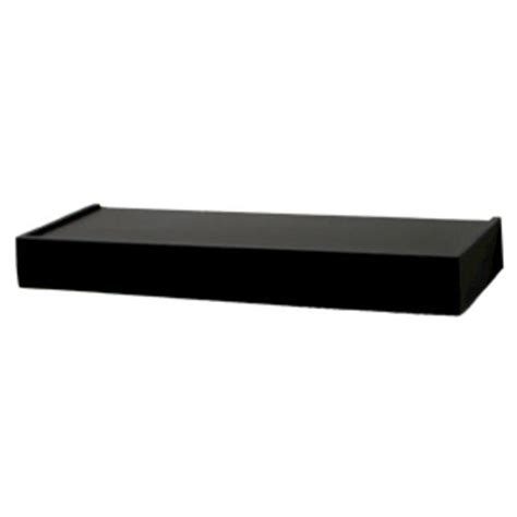 menards wall shelves 24 quot black floating shelf at menards 174