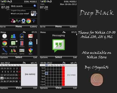 nokia asha all themes the cleanest themes for nokia c3 00 asha 200 asha 201