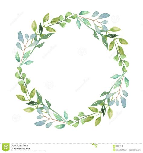 Autumn Wreaths by Watercolor Garland Summer Greenery Wreath Wedding Leaves