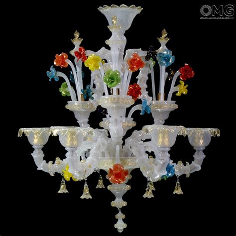 chandelier fiordaliso floral murano glass 6 lights looking chandelier fiorentina white rezzonico murano glass 6 lights