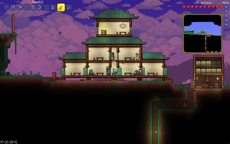 Coolhouse by Oriental Themed Builds Terraria Community Forums