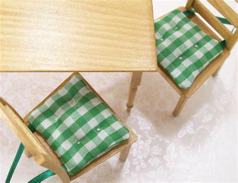 green kitchen chair cushions dollhouse miniature kitchen chair cushions pads green