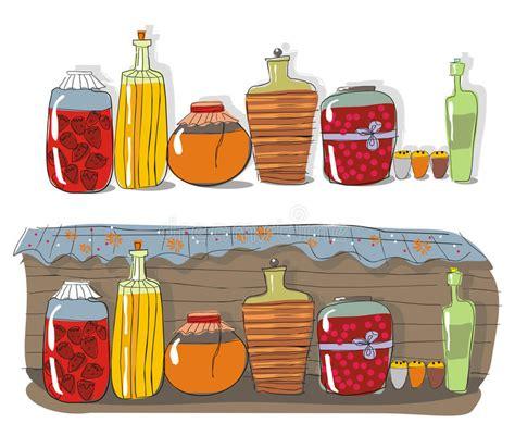 Canned Jam Shelf shelf with jam stock photos image 20378133