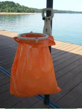 boat trash bag holder bagalot easy lake life