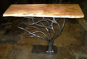 Spalted maple top hand forged iron base made in collaboration with arc