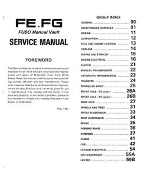 small engine service manuals 1993 mitsubishi truck instrument cluster fg archives