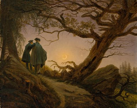 caspar david friedrich 3822819573 caspar david friedrich two men contemplating the moon 1825 30 tutt art pittura
