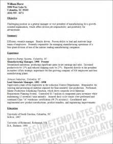 Manufacturing Resume Templates by How To Write A Resume Exles Resume Templates Exles