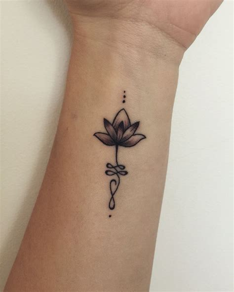 tattoo unalome lotus adorable lotus and unalome tattoo on wrist