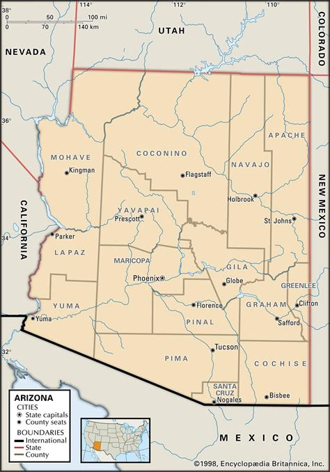 arizona map with cities arizona map with counties