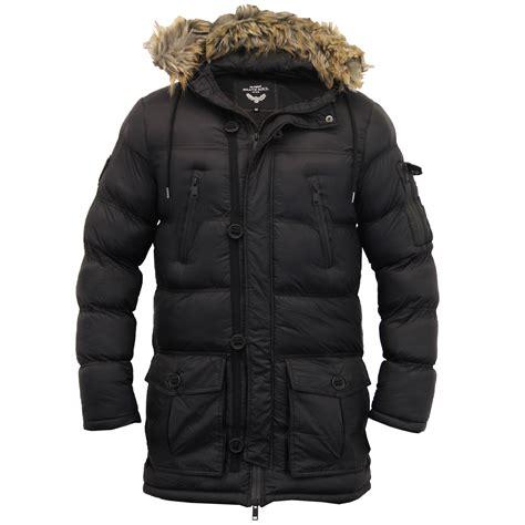 Camouflage Hooded Padded Coat mens parka jacket brave soul coat camo